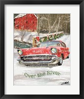Framed Chevy Christmas Over the River