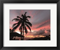 Framed Antigua Sunset I
