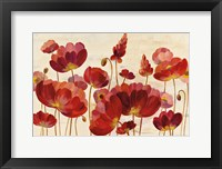 Framed Red Flowers on Cream