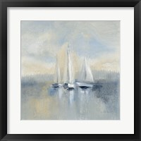 Framed Morning Sail I Blue
