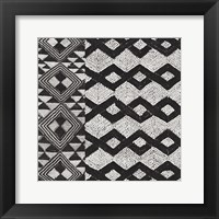 Framed Kuba Cloth Mat I BW