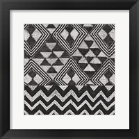Framed Kuba Cloth Mat II BW