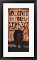 Framed Alphabet House