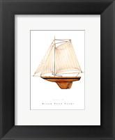 Framed Black Pond Yacht