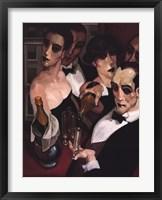 Champaign Waiter Framed Print