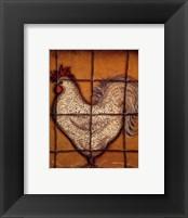 Framed Spotted Rooster