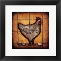 Framed Hen and Eggs