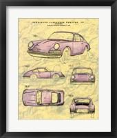 Porsche Patent Framed Print