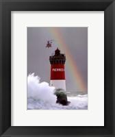 Framed Arc-En-Ciel Sur Mer