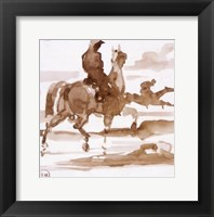 Framed Study of Horses and Joc