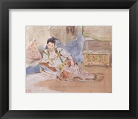 Framed Arab Woman Seated