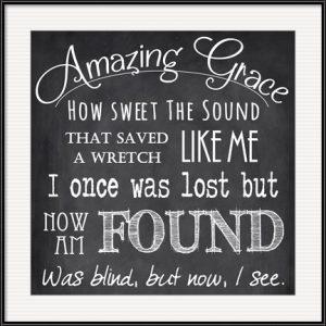 Amazing Grace Chalkboard by Veruca Salt