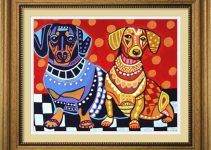 Dachshunds 2 Dogs by Heather Galler