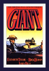 James Dean Giant movie poster.