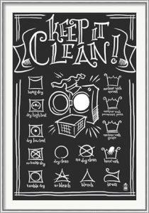 Keep It Clean by Lantern Press - Chalkboard Art