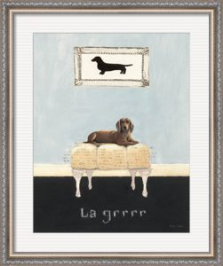 La Grrr by Emily Adams with a patterned silver frame