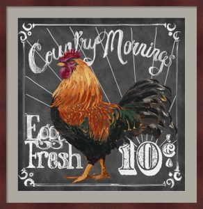 Rooster on Chalkboard I by Art Licensing Studio