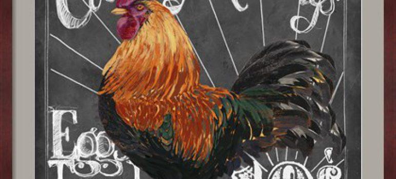 Rooster on Chalkboard I by Art Licensing Studio