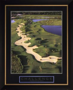 Challenge - Motivational Golf Poster