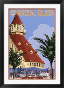 Retro Coronado Island Poster by Lantern Press
