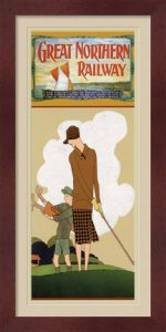 Great Northern Railway - Retro Golf Poster by Jane Travelin