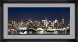 Hudson River at Dusk, Manhattan, New York City by Panoramic Images
