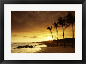 Golden Kauai Hawaii Sunset Photograph