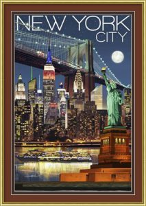 New York City travel poster by Lantern Press