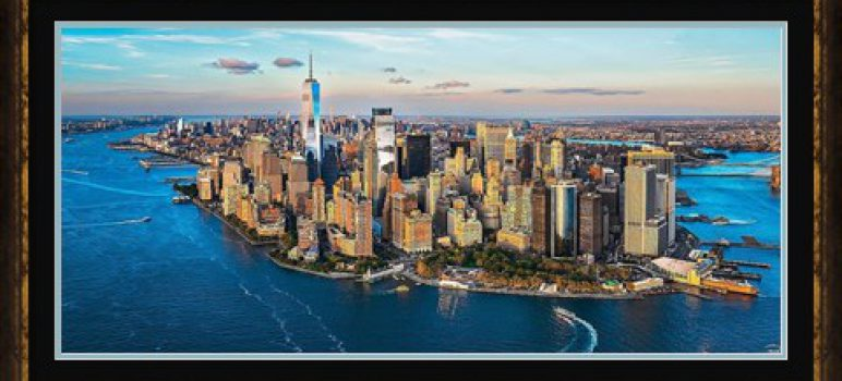 Aerial Photograph of Manhattan with Freedom Tower