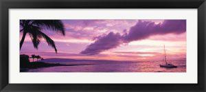 Amazing Purple Sunset at Kapala Bay, Maui Hawaii