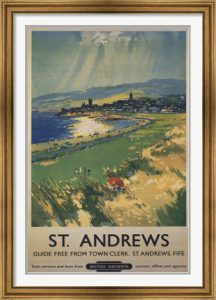 Vintage St. Andrews Golf Poster