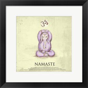 Elephant Yoga Namaste Pose by Veruca Salt