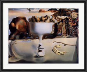 Apparition of Face and Fruit Dish on a Beach - Salvador Dali Print