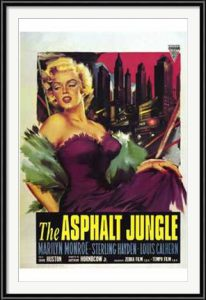 Asphalt Jungle movie poster with Marilyn Monroe