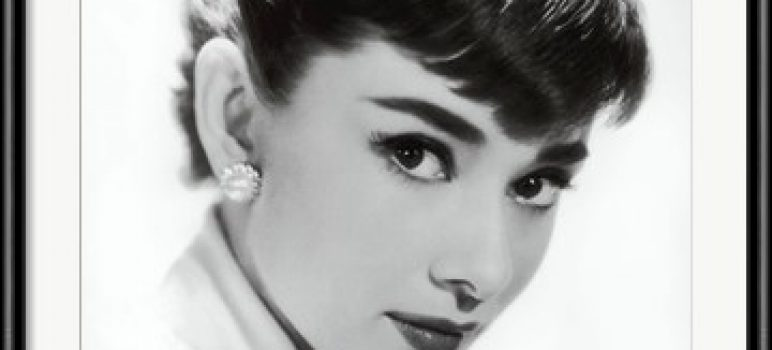 Audrey Hepburn 1955 screen test photograph