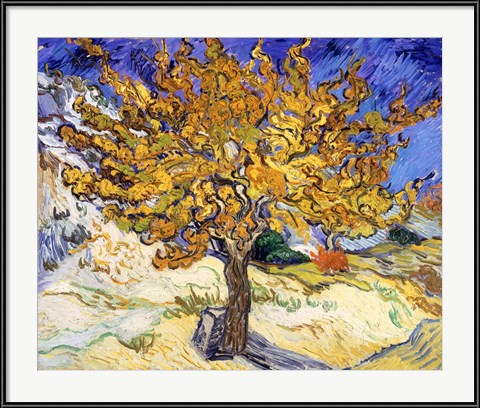 The Mulberry Tree in Autumn - Vincent Van Gogh (1889)