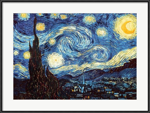 006a29a34e Vincent Van Gogh - Two Starry Nights  - FramedArt Tour Blog