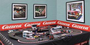 Carrera Slot Car Track with Framed Car Art