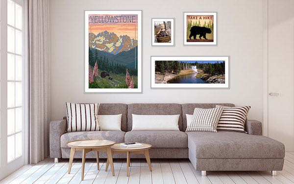 National Park Posters are perfect for the living room!