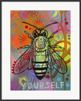 "Dean Russo's pop art ""Bee Yourself"" is fun and inspirational insect art."
