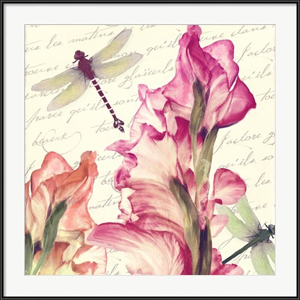 """Dragonfly Morning I"" by Color Bakery has a companion piece to pair with for a delightful dragonfly diptych."