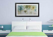 Bedroom art in blue