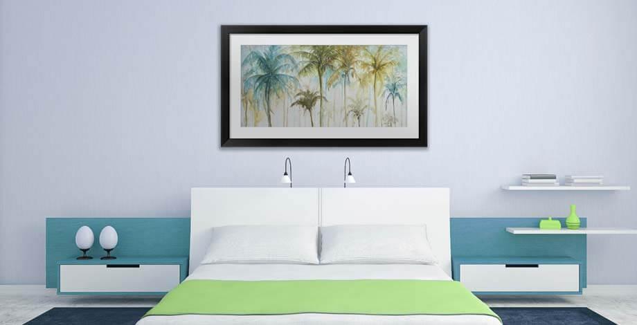 framed prints spice up the bedroom