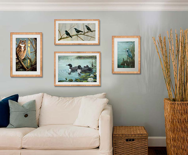 Bring the outdoors inside with photographic living room wall art.
