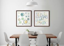 Rock a Midcentury Modern look with fun graphic wall art.