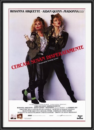 Desperately Seeking Susan movie poster with Rosanna Arquette and Madonna