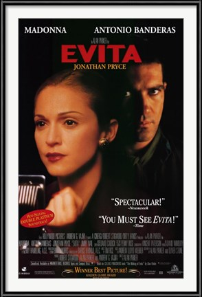 Evita movie poster - with Madonna and Antonio Banderas