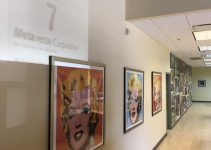 The Metaverse office is filled with artwork, including this set of iconic Andy Warhol prints.