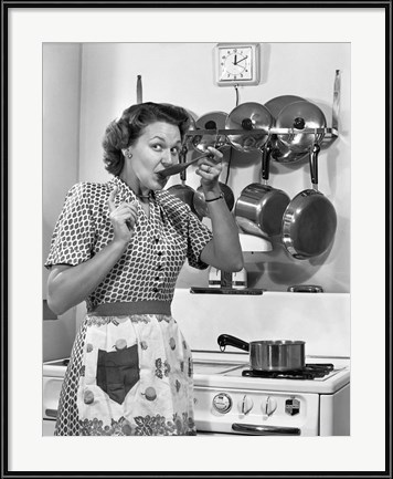 1950s Housewife Cooking by Vintage PI