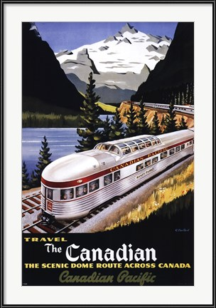 Canadian Pacific Train - 1955 - vintage advertising poster